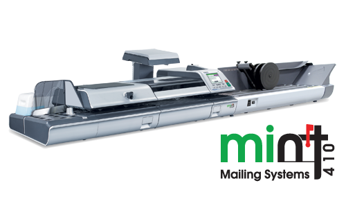 Mint 410 Series Mailing System, shown with dynamic scale and extendable conveyor stacker