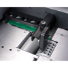 Powerful air suction feed table handles a variety of coated or non-coated stock, aligning the sheets prior to folding