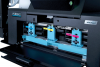 Front access to the high-capacity ink tanks allows for easy replacement without removing the label stock from the print path or rewinder