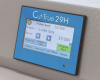 Full-color touchscreen control panel allows users to program up to 100 jobs/100 cuts.