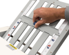 Fold plates are clearly marked, with quick release fold stops