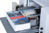 Infeed tray capacity of up to 625 sheets, with adjustable stack height
