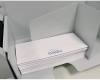 """Large outfeed tray handles envelopes up to 9.75"""" W x 15"""" L"""