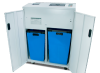 Separate waste bins for paper and optical media