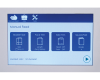 Color touchscreen features bold graphics and text for easy user setup and operation